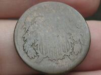 1864-1872 TWO 2 CENT PIECE- CIVIL WAR TYPE COIN- HEAVILY WORN