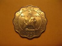 1953   PARAGUAY COIN   50 CENTIMO    LION    BU COINS  SWEET COINS