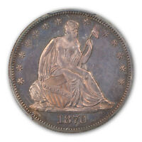 1870 50C LIBERTY SEATED HALF DOLLAR PCGS PR64