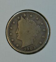 1903 LIBERTY HEAD CIRCULATED NICKEL  F-VF DETAILS SEE STORE FOR DISCOUNTS BR03