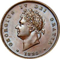 1826 COPPER PENNY GEORGE IV. VIRTUALLY  UNCIRCULATED. SPINK UNC 700.00