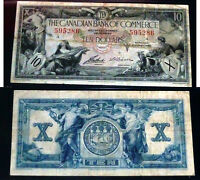 CANADIAN BANK OF COMMERCE   1935  $10  CERTIFIED