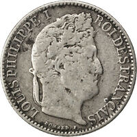 FRANCE LOUIS PHILIPPE 1/2 FRANC 1843 LILLE KM 741.13 VF20 25 SILVER,..