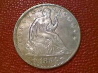 THE JOY OF COIN COLLECTING1854 ARROWS EARLY SEATED LIBERTY HALF DOLLAR  AM71