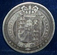 UK ,1824 SILVER  SHILLING ,GREAT BRITAIN