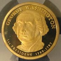 2007-S WASHINGTON DOLLAR PROOF 70 DCAM BY ICG 1ST DAY ISSUE