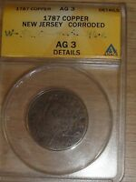 1787 NEW JERSEY COLONIAL COPPER