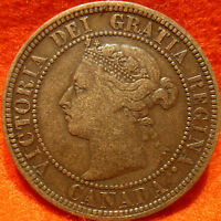 1888 HIGH GRADE CANADA LARGE CENT VICTORIA COIN NORES CANADIAN