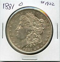 1881 O $1 MORGAN SILVER DOLLAR. CIRCULATED. LOT1616
