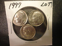 1997 P  ROOSEVELT DIME LOT OF 3 COINS                   WE COMBINE SHIPPING