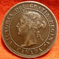 1897 HIGH GRADE CANADA LARGE CENT VICTORIA COIN NO RES CANADIAN