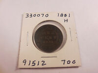 1881 H CANADIAN LARGE CENT    330070   NICE
