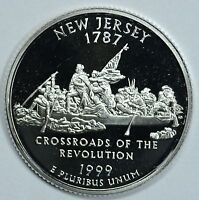 1999 S NEW JERSEY STATE SILVER PROOF QUARTER    SEE STORE FOR DISCOUNTS GR23