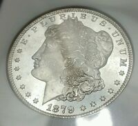 1879-S MORGAN SILVER DOLLAR NGC MINT STATE 65 - FROSTY PQ STUNNER
