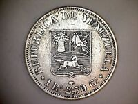 VERY     VENEZUELA   SILVER 1 REAL   YEAR 1858 A