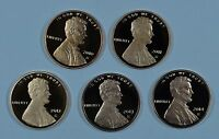 2010   2014 S LINCOLN PROOF CENT  5 COINS TOTAL  SHIPS FOR FREE