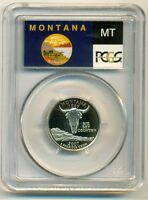 2007 S CLAD MONTANA STATE QUARTER PROOF PR70 DCAM PCGS FLAG LABEL