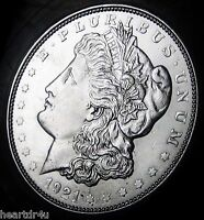 1921 D MORGAN SILVER DOLLAR  ALMOST UNCIRCULATED   FAST SHIPPING   FAST DELIVERY