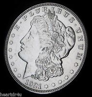 1921 D MORGAN DOLLAR   ALMOST UNCIRCULATED   FAST SHIPPING   FAST COIN DELIVERY