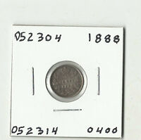 1888 CANADIAN FIVE CENTS SILVER    052304