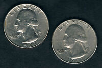 MAKE AN OFFERNO TAX UNITED STATES USA 1987D  2 X QUARTERS 25 CENTS