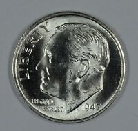 1947 S ROOSEVELT SILVER UNCIRCULATED DIME BU SEE STORE FOR DISCOUNTS YE33