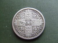 QUEEN VICTORIA.   1849  SILVER FLORIN.  GODLESS ISSUE.  .