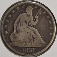 1857 O 50C LIBERTY SEATED HALF DOLLAR