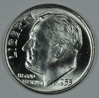 1955 D ROOSEVELT SILVER UNCIRCULATED DIME BU SEE STORE FOR DISCOUNTS BL41
