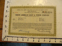 STOCK    1932 1/2 A SHARE IN NORTH AMERICAN LIGHT & POWER CO.