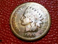 U.S. VINTAGE TYPE COIN1865 INDIAN HEAD BRONZE PENNY ONE CENT BN26