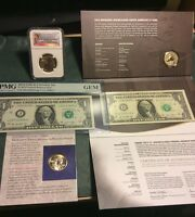 2014 D NGC SP69&2015 W COIN&CURRENCY SETS W/ENHANCED SAC. $1NOTES,BONUS 2000 $1