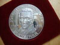 Y809 GERMANY SILVER MEDAL GERMAN PHYSICIST JOSEPH VON FRAUNHOFER 1787   1826