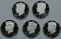 2010 2011 2012 2013 2014 S KENNEDY SILVER PROOF HALF DOLLARS