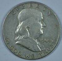 1960 D FRANKLIN SILVER CIRCULATED HALF DOLLAR  SEE STORE FOR DISCOUNTS GR45