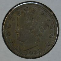 1883 LIBERTY HEAD CIRCULATED NICKEL F DETAILS SEE STORE FOR DISCOUNTS  YE33