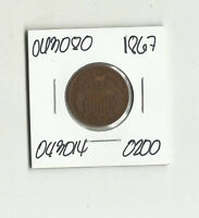 1867 TWO CENTS -  043080