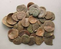LOT OF 40 SPANISH 'REVALUED' MARAVEDIS COINS FROM 1600'S