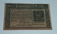 1776 STATE OF NEW YORK TEN DOLLARS $10 COLONIAL CURRENCY