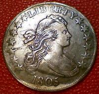 TOUGH TO FIND1805 0-111 EARLY DRAPED BUST HALF DOLLAR BP11
