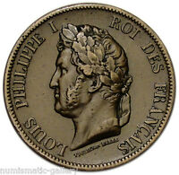 FRENCH COLONIES 10 CENTIMES 1843 A XF LOUIS PHILIPPE I