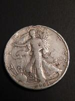 1941 D WALKING LIBERTY HALF DOLLAR 90 SILVER  WELL CIRCULATED