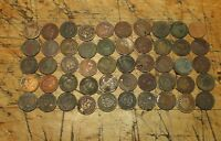 LOT OF 50  CULL INDIAN HEAD CENTS /PENNIES 1800S 1900S OLD US COINS  1E