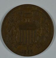 1865 SHIELD 2 CENT COIN  XF DETAILS  SEE STORE FOR DISCOUNTS RD56