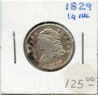 1829 10C CAPPED BUST DIME. CIRCULATED. LOT 1880