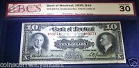 BANK OF MONTREAL $10 1935. CANADA CHARTERED BANKNOTE FOR COLLECTORS