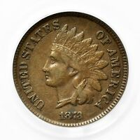 1873 INDIAN HEAD CENT PCGS EF 40 OPEN 3  VARIETY SMALL COPPER COIN [577.06]