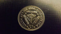 SOUTH AFRICA PROOF THREEPENCE 1956 STUNNING ONLY 1700 MINTAGE