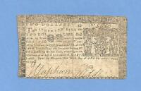 1774 $ 2 MARYLAND COLONIAL CURRENCY FINE CONDITION SHARP EARLY NOTE