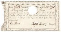 1790 CERTIFICATE OF PAYMENT CONNECTICUT CONTROLLER'S OFFICE NO. 9605